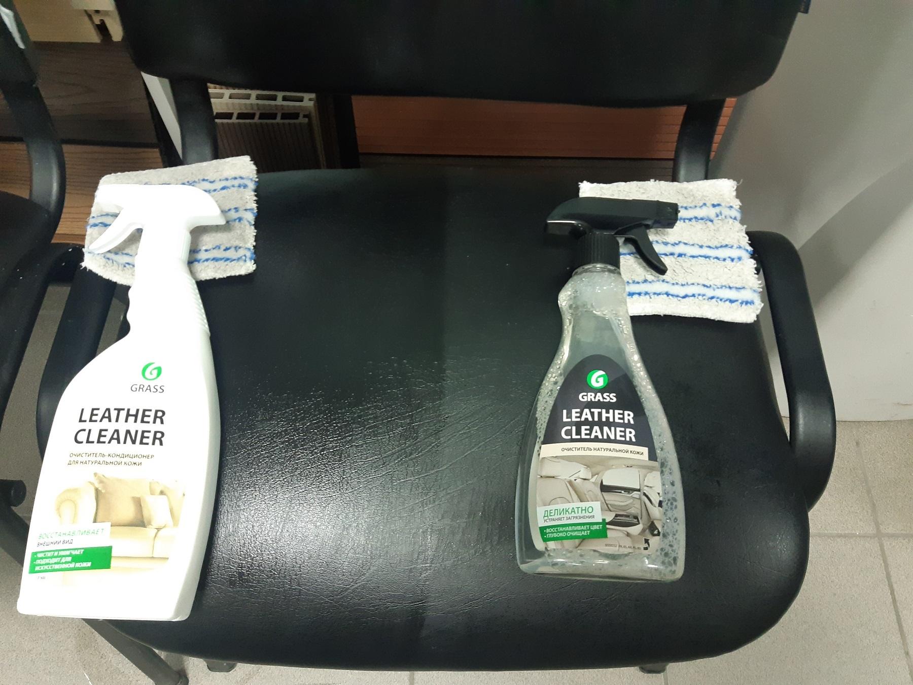 Бюджетная чистка офисных стульев из кожзама