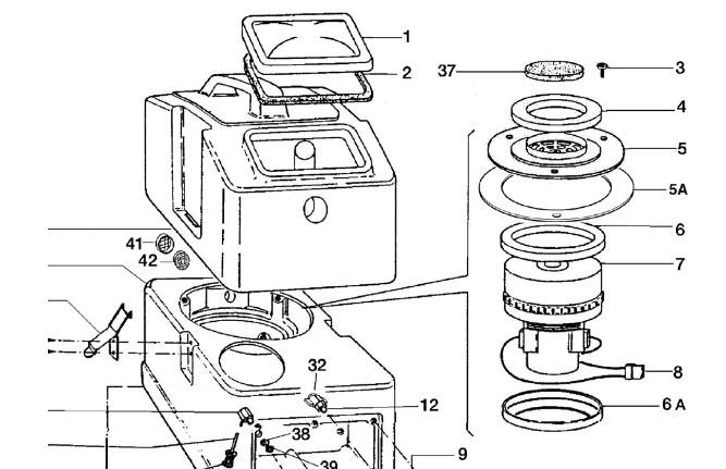 Схема устройства и подбора запчастей к экстрактору Sabrina